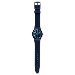 Swatch GN718 Armbanduhr Sir Blue Classic Silikon Datum Ø 34 mm