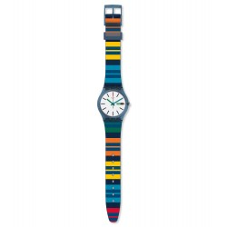 Swatch GN724 Armbanduhr Color Crossing Worldhood Silikon Datum Ø 34 mm