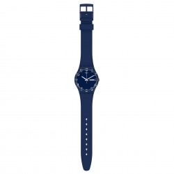 Swatch GN726 Armband-Uhr Over Blue Analog Quarz Silikon-Armband Ø 34 mm