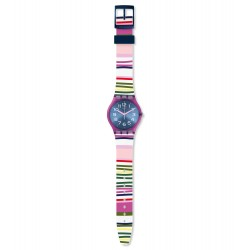 Swatch GP153 Armbanduhr Funny Lines Worldhood Silikon Ø 34 mm