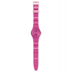 Swatch GP160 Armbanduhr Coeur De Manege Analog Quarz Silikon-Band