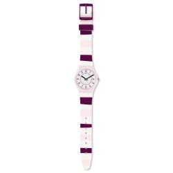Swatch GP402 Armbanduhr Miss Yacht Quarz Silikon Armband Ø 34,00 mm