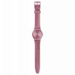 Swatch GP404 Armband-Uhr Datebaya Analog Quarz mit Silikon-Band