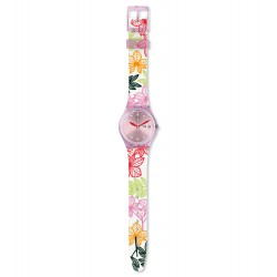Swatch GP702 Armbanduhr Summer Leaves Analog Quarz Silikon Armband