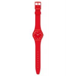 Swatch GR175 Armbanduhr Sunetty Silikon Rot Ø 34 mm