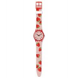 Swatch GR177 Armbanduhr Toile Fraisee Quarz Silikon Armband Ø 34,00 mm