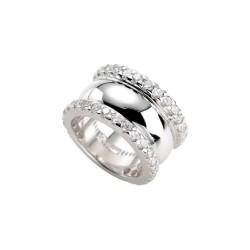 Karat 303459550 Ring Damen Sterling-Silber Zirkonia Weiss Gr. 55