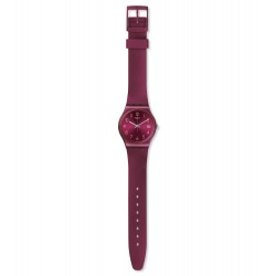 Swatch GR405 Armbanduhr Redbaya Analog Quarz mit Silikon-Band