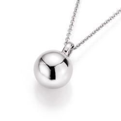Karat 909219450 Halskette mit Anhänger Damen Perlen Kugeln Silber 45 cm