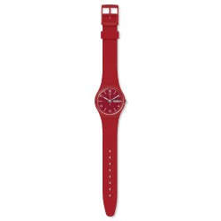 Swatch GR710 Armband-Uhr Lazered Analog Quarz mit Silikon-Band Ø 34,00 mm