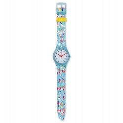 Swatch GS401 Armband-Uhr Prikket Analog Quarz mit Silikon-Band