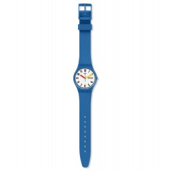 Swatch GS703 Armband-Uhr Sobleu Analog Quarz mit Silikon-Band Ø 34,00 mm