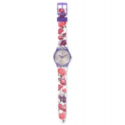 Swatch GV135 Armband-Uhr Sweet Garden Analog Quarz mit Silikon-Band