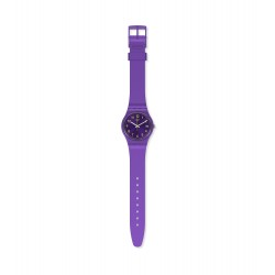 Swatch GV402 Armband-Uhr Purplazing Analog Quarz mit Silikon-Band