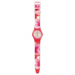 Swatch GZ321 Damen-Uhr Fiore Di Maggio Analog Quarz mit Silikon-Band