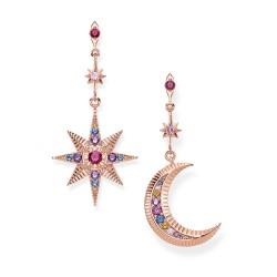 Thomas Sabo H2025-321-7 Ohrringe Royalty Stern & Mond Silber Roségold