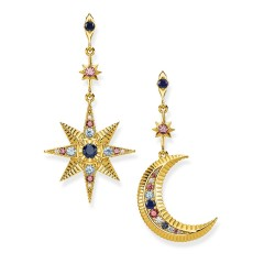 Thomas Sabo H2025-959-7 Ohrringe Damen Royalty Stern & Mond Gold-Ton