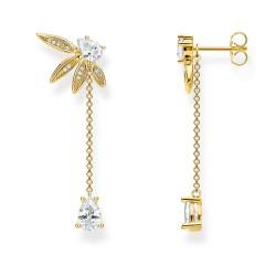Thomas Sabo H2105-414-14 Ohrringe Damen Blätter mit Kette Silber Vergoldet