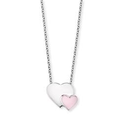 Engelsrufer HEN-13-HEARTS Kette mit Anhänger Herzen Silber Emaille