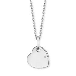 Engelsrufer HEN-ID-HEART-ZI Kette mit Anhänger Herz Zirkonia Silber 42 cm