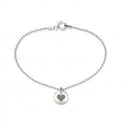 Beka & Bell 5022 Armband Brautschwester-Herz Sterling-Silber 19 cm