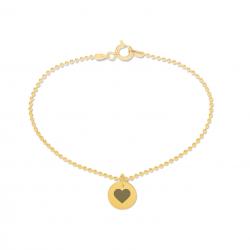 Beka & Bell 5012G Armband Soli Damen Trauzeugin-Herz Silber Gold Gr. M