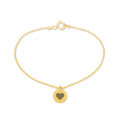 Beka & Bell Armband Soli Damen Trauzeugin-Herz Silber Gold
