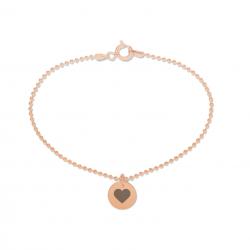 Beka & Bell Armband Soli Damen Trauzeugin-Herz Silber Roségold