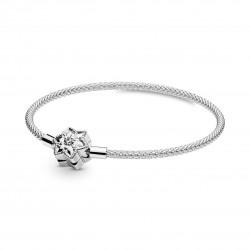Pandora 598616C01 Armband Leuchtende Schneeflocke Mesh Silber 19 cm