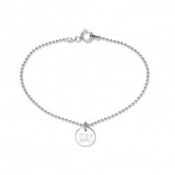 Beka & Bell Armband Soli It`s a Girl! Geburt Ø 10 mm Silber