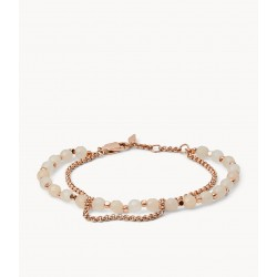 Fossil JA6851791 Armband Damen Semi-Precious Double-Chain Rose