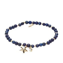 Fossil JA6946710 Armband Blue Semi-Precious Gold-Ton