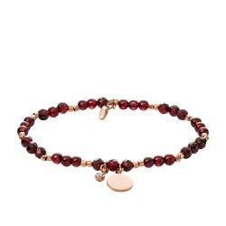 Fossil JA6985791 Armband Damen Vintage Iconic Gesundheit Granat-Perlen Messing