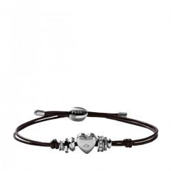 Fossil JF00116040 Armband Damen Rondell Leder Silber-Ton