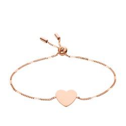 Fossil JF02965791 Armband Damen Classics Heart Edelstahl Rosé-Ton