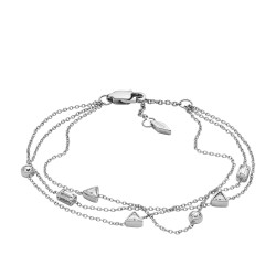 Fossil JF02976040 Armband Damen Vintage Glitz Silber-Ton Weiss