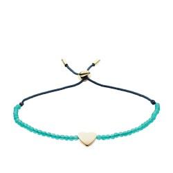 Fossil JF02978710 Armband Damen Vintage Motifs Jade Heart Türkis Gold-Ton