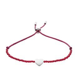 Fossil JF02978710 Armband Damen Vintage Motifs Carnelian Heart Rot Silber-Ton