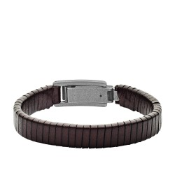 Fossil JF03105793 Armband Herren Wrapped Brown Leather Bracelet
