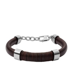 Fossil JF03106040 Armband Herren Wrapped Brown Leder Bracelet