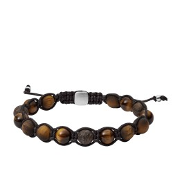 Fossil JF03110040 Armband Herren Tiger's Eye and Bronzite 17,5 cm