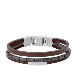 Fossil JF03131040 Armband Herren Multi-Strand Edelstahl 19,5 cm