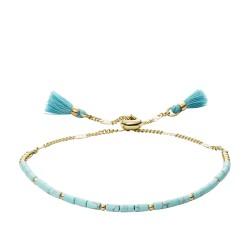 Fossil JF03137710 Armband Damen Turquoise Gold-Ton 21,5 cm