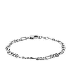 Fossil JF03174040 Armband Herren Figaro Bracelet Edelstahl 19,5 cm