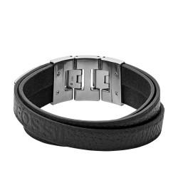 Fossil JF03189040 Armband Herren Multi-Strand Edelstahl Leder