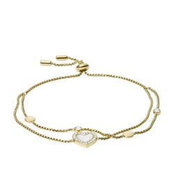 Fossil JF03216710 Armband Damen Heart Duo Edelstahl Gold-Ton