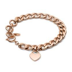 Fossil JF03277791 Armband Damen Rose Gold Edelstahl 20 cm