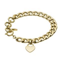 Fossil JF03278710 Armband Damen Gold-Tone Edelstahl Gelbgold 20 cm