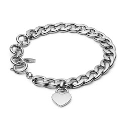 Fossil JF03279040 Armband Damen Silber Tone Edelstahl 20 cm