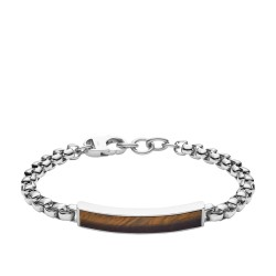 Fossil JF03447040 Armband Herren Dive Tigerauge Edelstahl Braun